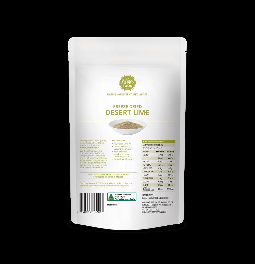 Freeze Dried Desert Lime Powder 80g Back
