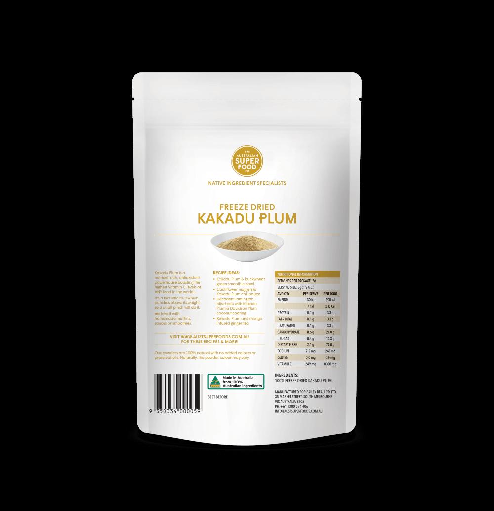Freeze Dried Kakadu Plum Powder 80g Back