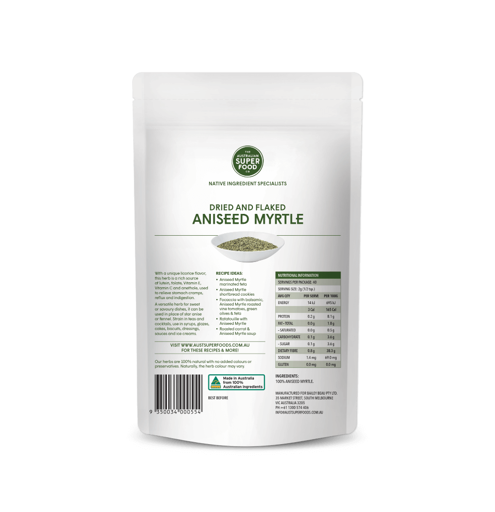 Native Aniseed Myrtle 80g Back